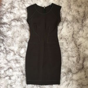 Olive Green French Connection Midi Dress